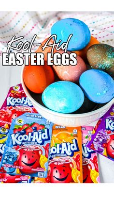 Easter Recipes, Easter Ideas, Easter Crafts, Egg Coloring, Coloring Easter Eggs, Kool Aid Packets, Teen Accessories, Holiday Fun, Christmas Holidays