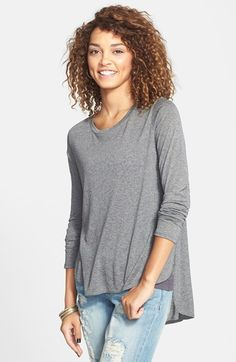 Soprano Split Side High/Low Tee (Juniors) available at #Nordstrom