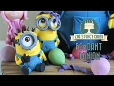 Minions: How to make a minion model using gum paste or fimo despicable me minions - YouTube