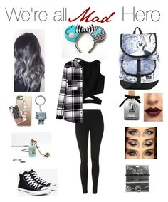 """Alice in wonderland"" by foreverandalwaysemily22 on Polyvore featuring Disney, Casetify, Topshop, Converse and LASplash"