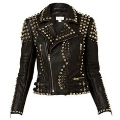 WITCHERY STUDDED LEATHER JACKET