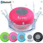 Guppy® Water Resistant Bluetooth Shower Speaker – Wireless Portable Audio, New 2015 Model – Kid-friendly, Built-in Control Buttons, Speakerphone, Powerful Suction Cup, w/Safety Lanyard – Best for Bath, Pool, Car, Beach, Indoor/Outdoor Use (Pink)
