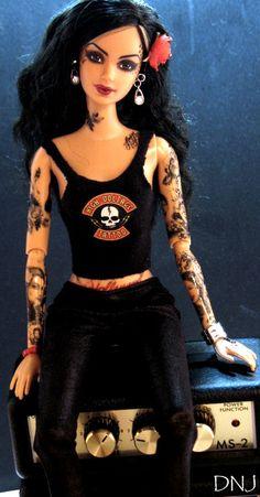 barbie tattoo i want this doll i think it soppose to be Cat VonD LOVEEEEEEEE it