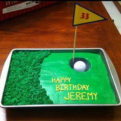 Golf cake My husband's birthday cake. My version of a cake I saw on Pinterest.