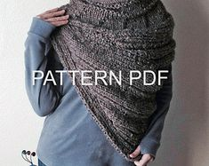 PATTERN PDF - Pattern for DIY District 12 Cowl - Easy Knitting Pattern - Instant Download - customizable sizes