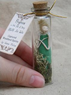 Captured Woodland Spirit Ressembling  Tinker Bell   by littlefolkoffaery