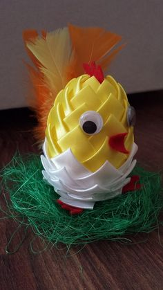 Jak zrobic kurczaka z jajka syropianowego (ozdoby wielkanocne). Ribbon E...