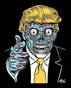 """""""Trump Lives by Mitch O'Connell, shirt now available for preorder. Black ringspun 100% cotton, size S-XL, $25 each including shipping. Order using…"""""""