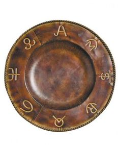 Cattle Brands Western Charger Plate