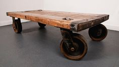 Rolling Coffee Table 1