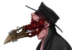 Plague Doctor concept art on Behance Plague Mask, Plague Doctor Mask, Arte Horror, Horror Art, Gothic Horror, Plauge Doctor, Doctor Drawing, Doctor Tattoo, Character Art
