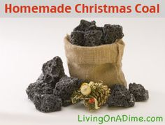 Homemade Christmas Coal Recipe  Christmas Coal is a great gag gift for the guys in your life and it's less than $1!!