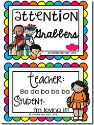 Free attention getters! Great for classroom management