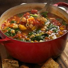 Winter Minestrone And Garlic Bruschetta Recipe  with 20 ingredients