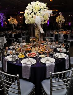 Wedding, Reception, White, Red, Purple, Silver, Belvedere events banquets
