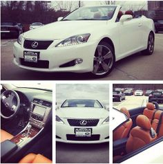 Just in on trade & SO PERFECT for the upcoming amazing weather - a starfire pearl Lexus IS 350C with gorgeous saddle tan leather interior! #SellYourCarFriday #Lexus #Convertible