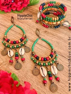 Handmade Jewelry Designs, Beaded Jewelry Patterns, Fabric Jewelry, Handcrafted Jewelry, Earrings Handmade, Bead Jewellery, Boho Jewelry, Jewelry Crafts, Fashion Jewelry