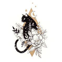 Chic small cat tattoos design ideas for elegant lady - Katzen Black Cat Tattoos, Dog Tattoos, Cute Tattoos, Body Art Tattoos, Tattoo Drawings, Ankle Tattoos, Arrow Tattoos, Friend Tattoos, Tattos