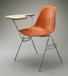 The classic Charles Eames fiberglass shell chair, designed for Heman Miller in the early 1950′s, now in the permanent collection of the Los Angeles County Museum of Art