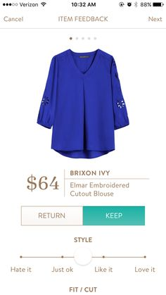 Liked this a lot. Just didn't buy bc I bought the hawthorn 41 top last fix that was super similar