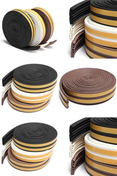 [Visit to Buy] Hot 1pc 5m Self Adhesive E Type For Doors and Windows Foam Seal Strip Soundproofing Collision Avoidance Rubber Seal Collision #Advertisement