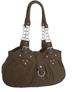 EyeCatchBags - Huron Damen Schultertasche / Handtasche aus Kunstleder Braun