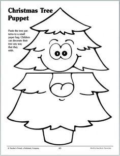 Christmas Tree Sack Puppet