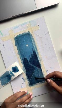 Watercolor Paintings For Beginners, Watercolor Art Lessons, Watercolor Techniques, Watercolor Landscape Tutorial, Watercolor Beginner, Watercolor Journal, Painting Videos, Painting Tutorials, Art Painting Gallery