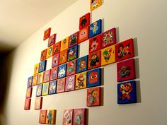 46 game characters on canvas.  Created by Becky Dreistadt