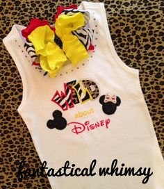 WILD about Disney Shirt and Bow Set by FantasticalWhimsy on Etsy, $35.00