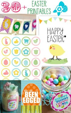 30+ Easter Printables. All free, all cute! Great round-up on { lilluna.com } #easter #free #printable