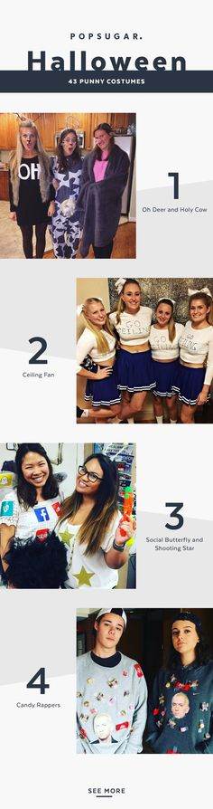 bff halloween costumes Witty For the Win! These Punny Halloween Costumes Are Seriously Funny, Witty For the Win! These Punny Halloween Costumes Are Seriously Funny, Pun Costumes, Punny Halloween Costumes, Cute Halloween Costumes, Cool Costumes, Costume Ideas, Diy Halloween, Halloween Makeup, Halloween 2019, Happy Halloween