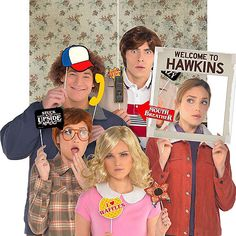 This Stranger Things Photo Booth Kit includes Stranger Things photo booth props and a giant frame that reads 'Welcome To Hawkins.' Use this kit to deck out your Stranger Things birthday party, Halloween celebration, or watch party! Stranger Things Halloween Costume, Halloween Costumes For Girls, Halloween Kids, Halloween Party, Photo Booth Kit, Stranger Things Theme, Halloween Celebration, Kids Party Supplies, Party Stores