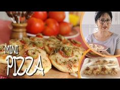 COMO FAZER MINI PIZZAS | MASSA PRE-ASSADA SUPER FÁCIL E ECONÔMICA | DIKA DA NAKA - YouTube Como Fazer Mini Pizza, Receita Mini Pizza, Mini Pizzas, Food And Drink, Dinner, Ethnic Recipes, Oven Recipes, Quick Recipes, Delicious Recipes