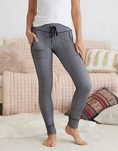 Aerie Play Textured Legging , True Black | Aerie for American Eagle