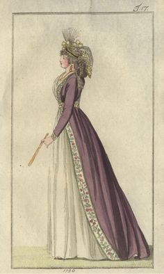 Fashion plate, Journal des Luxus und der Moden, Germany, June 1796