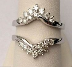 White Gold Solitaire Enhancer Ring Guard Wrap (0.66ct. tw)- RG221591832525