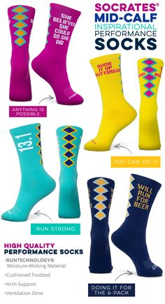 Mothers Love Crazy Socks Mothers Love 3D Crew Socks For Running Athletic Sports