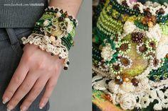 Bazarino - Пролетно настроение - плетен маншет на една кука