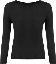 308c2710a35 Ladies Long Sleeve T-Shirt Women Round Neck Plain Basic Top Plus Size 8 -