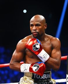 Floyd Mayweather during his world welterweight championship bout against Manny Pacquiao (not picture... - Mark J. Rebilas-USA TODAY Sports
