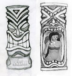 black and white tiki - Google Search