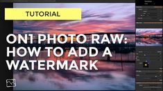 Adding a watermark to your photos is fast and easy in Photo RAW.