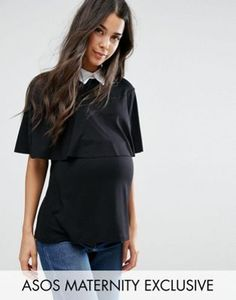ASOS Maternity NURSING Collar Top