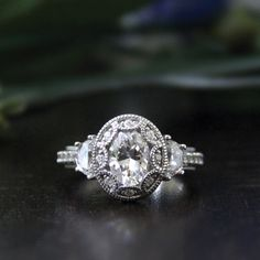 1.50 ct Art Deco Engagement Ring-Oval Cut Diamond by Besbelle