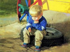 little boy painting - Google Search