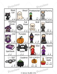 Halloween Composing by Mrs Stouffer's Music Room Music Games, Music Activities, Movement Activities, 6 Music, Sheet Music, Preschool Music, Teaching Music, Teaching Resources, Elementary Music Lessons