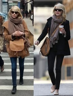 """Actress EMMA STONE spotted carrying her BARBARA BUI leather 'Air' shoulder bag while out & about in New York City on April 2nd, 2013.  ------------------  L'actrice EMMA STONE a été vue dans les rue de NEw York avec son sac BARBARA BUI """"Air"""", le 2 avril."""
