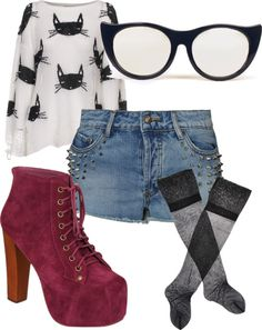 """""""Cat Lady"""" by rohringstrong ❤ liked on Polyvore"""
