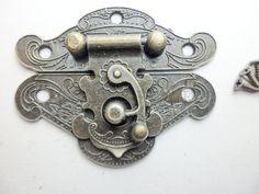 Angel wings bronze Jewelry Box Staple Hasp Catch